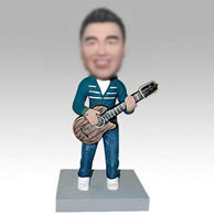 Personalized custom guitar player bobbleheads