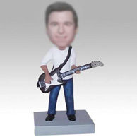 Personalized custom bass player bobbleheads