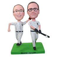 Personalized baseball players bobbleheads
