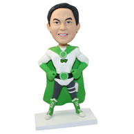 Unique custom-built Green Lantern bobblehead