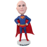 Personalized custom funny gift superman bobblehead