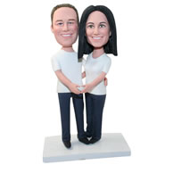 Custom couple in leisure time bobblehead