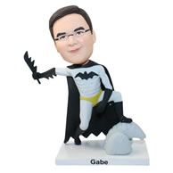 Custom batman with a knife in hand bobbleheads