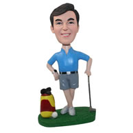 Personalized custom golfer figurines bobbleheads