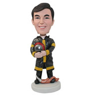 Personalized custom firefighter bobbleheads