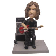 Personalized superstar with guitar and loudspeaker box bobbleheads