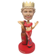 Personalized sexy lady in sexy apparel bobbleheads
