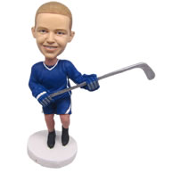 Personalized custom ice hockey kid player bobbleheads