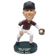 Personalized MVP player baseballer catching ball bobbleheads