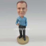 Custom bobbleheads Executive with Blackberry
