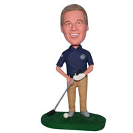 Custom  playing golf bobblehead