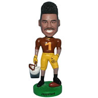 Custom  strong muscle man bobblehead in brown shirt