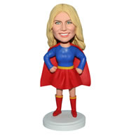 Custom funny superwoman  bobble head