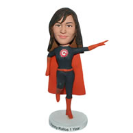 Custom superwoman in superman uniform  bobblehead