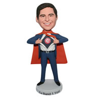 Custom  superman in blue suit bobble head