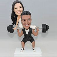 Customize wedding gifts for him who is a weightlifting lover