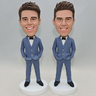 Best men bobbleheads in blue suit