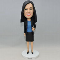 Custom bobbleheads gifts for wife who is a businesswoman