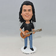 Custom bobbleheads for husband who like play guitar