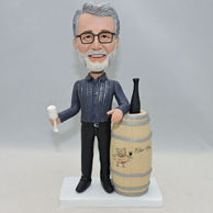 Custom bobbleheads gifts for father who like drinking