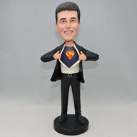 Custom cool super man bobbleheads with logo
