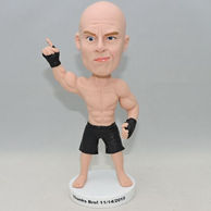 Personlized cool infighter bobbleehad without shirt