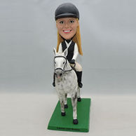 Custom brave girl bobblehead with a horse