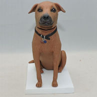 Custom funny dog bobblehead with blue label