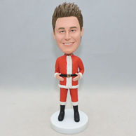 Personilized funny man bobblehead with christmas outfit