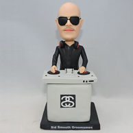 Cool DJ bobblehead with gey DJ table