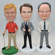 Personalized bobblehead in different dress and posture