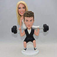 Custom interesting couple bobblehead for wedding