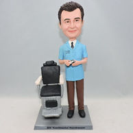 Personalized men bobbleheads with a table beside