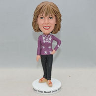 Custom women bobbleheads with flowers on the clothes