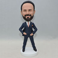 Custom men bobbleheads with western-style clothes