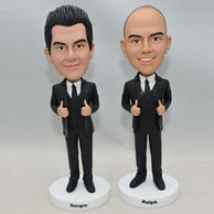 Personalized western-style clothes men bobbleheads with thumbs up