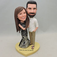 Sweet couple bobblehead for wedding anniversary and lady with fishtail skirt