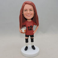 Peronalized volleyball player bobbleheadswith red shirt