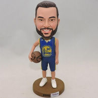 Personalized Basketball player bobblehead with beard