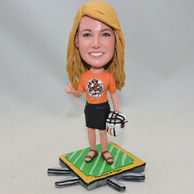 Beatiful Woman bobblehead with tiger shirt