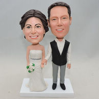 Couple bobblehead celebrated their silver wedding