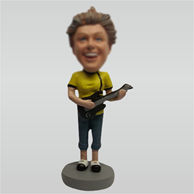 Custom female and guitar bobble heads