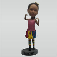 Custom fashion female bobblehead dolls