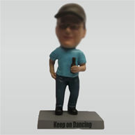 Custom male hold beer bobbleheads