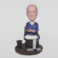 Personalized custom work man bobbleheads