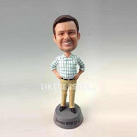 Personalized custom Plaid shirt bobbleheads