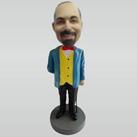 Personalized custom suit man bobble heads
