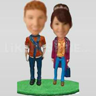 Happy couple bobble head-10425