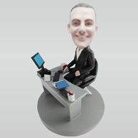 Personalized custom office male bobbleheads