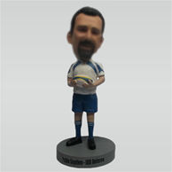 Custom man and Rugby bobblehead